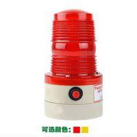 磁吸式交通路障LED频闪式警示灯 吸盘式干电池警告灯 红黄闪灯