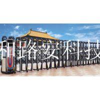 深圳南山不锈钢伸缩门供应厂家 西丽工地电动门定制