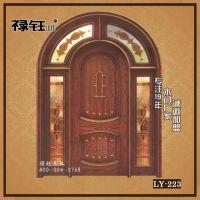高档拱形门雕花实木门加工定制豪华别墅木门厂家奢华装饰木门