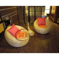 供应休闲藤椅茶几组合、会所藤椅三件套、广靓源家具