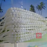 玉化砗磲散珠批发纯天然黄岩岛产半透1A级原产地直销
