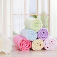 竹纤维毛巾 儿童竹炭洗脸洁面巾小方巾擦手巾 批发特价