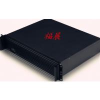 高档2U工业机箱 拉丝铝合金面板 前带显示屏 硬盘防震设计