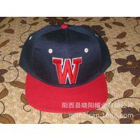 供应新款亚克力材质平沿帽 时尚hiphop街舞帽W字母嘻哈平板遮阳棒球帽