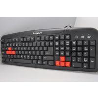 联想K19 游戏型防水键盘 简约宽面 凹槽键位 网吧游戏键盘 USB