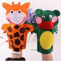 布艺手偶 动物贴画 创意缝制手玩偶 DIY不织布 儿童手工制作9f40