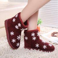 新款雪地靴女冬季低帮保暖雪地靴平底低筒女士棉鞋雪地棉短靴