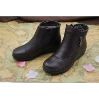 2014新款秋冬平底棉靴侧拉链加绒保暖马丁靴欧美女靴系带真皮短