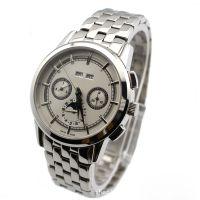厂家定制不锈钢机械手表 男士全自动机械手表 钢带双日历机械手表