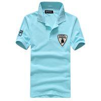 外贸EABY速卖通批发  兰博基尼袖标短袖polo 男式 休闲打底衫394