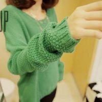 2014秋冬装新款韩版宽松大码蝙蝠袖 长袖套头针织打底衫外套