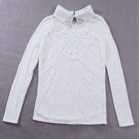 秋冬新款女装 冬季加绒蕾丝打底衫 蕾丝加厚打底衫长袖 清仓