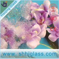 厂家批发3.5MM   海棠花玻璃  压花玻璃  钢化压花玻璃