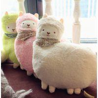 冬季新品 日本养生堂可爱羊驼暖手壶 暖手宝 热水袋 持久保温