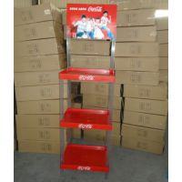 【厂家批发】可口可乐塑料货架运动型饮料卖场展示架鸡尾酒展会陈列架