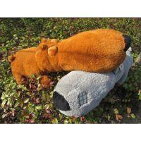 正版1.6米大号倒霉熊公仔 毛毛熊毛绒玩具布娃娃大头狗欠揍熊礼品
