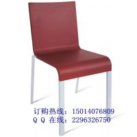 高品质PU塑胶椅 铝脚全PU椅子 国际品质的餐厅休闲椅子