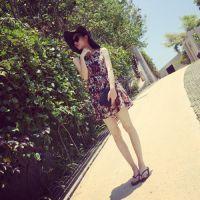 【YESWOMNE】小宜定制 夏季新款女装 复古雪纺背心碎花连衣裙