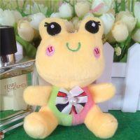 低价批发钥匙扣青蛙毛绒玩具小玩偶精品挂件创意钥匙扣儿童节礼物