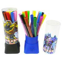 新款 正品授权迪士尼 筒装变形金刚水彩笔 18色水彩笔 TF2113