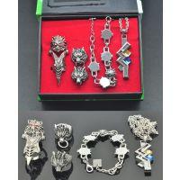 ***终幻想FF14 戒指项链手链指甲饰品套装 动漫周边饰品套装货源