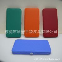 款式出口欧美潮品十字纹PU铰包、铁夹包、PU皮革铁夹钱包
