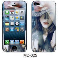 iPhone4S/4手机保护膜 手感膜批发 MD苹果4手机卡通贴膜 闪钻彩膜