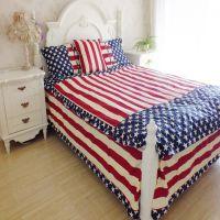 厂家直销 美式星条全棉斜纹床品套件 新款超美个性