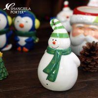 彩绘圣诞雪人陶瓷 调味瓶餐桌 创意圣诞礼品 酒店采购批发供应