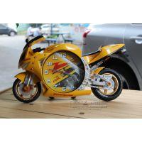 2013款新奇特创意家居法拉利跑车摩托车大挂钟 专卖店礼品