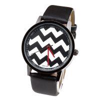 非凡速卖通新款手表波浪纹线条男女休闲表黑白配色新品速递
