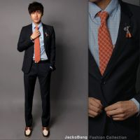 2014新款 男士西服套装 韩版修身西装新郎装伴郎服工作服职业装