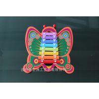 木制儿童音乐玩具 大蝴蝶八音敲琴 钢片 0-1-2-3岁 女孩喜爱 音准