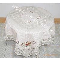 供应蜂巢丝带绣桌布  手工绣花台布  家居装饰用品绣花布