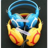 供应网吧耳机 重低音电脑语音耳机手机MP3MP4带麦克风耳机 头戴式耳