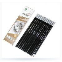 供应马利牌素描铅笔 绘画绘图铅笔 马利7300炭笔 中碳
