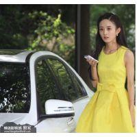 新款妻子的秘密赵丽颖杨幂明星同款韩版百搭黄色连衣裙子女