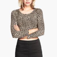 2014款女装 欧美短款露脐上衣 T恤秋装女 修身打底衫女 长袖