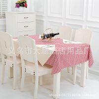 淘宝特供 现代简约家居/咖啡厅/餐厅 全棉小格子桌布 可提供图片