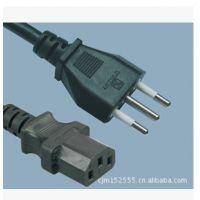 加工定做意大利标准IMQ认证16A插头线电源线