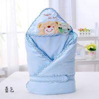 童装 婴儿睡袋秋冬加绒加厚纯棉抱被儿童睡袋抱被T576一件代发