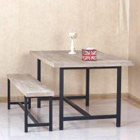 厂家直销铁艺餐厅实木餐桌椅简易家具餐桌椅组合批发