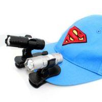 T057夹帽灯 帽子灯 迷你LED小手电筒 送灯架 手电筒 强光 头灯