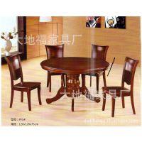 【厂家特惠价销售】1+6橡木餐厅圆桌子/圆餐桌/餐台/实木桌子