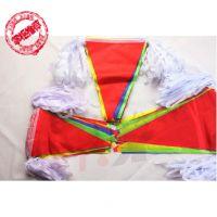 圣诞节元旦节中号三角彩旗 开业挂旗 结婚吊旗子活动彩旗工地旗子