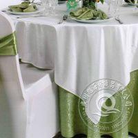 欧式高档水溶提花桌布涤纶台布 酒店餐厅白色西式婚庆用品 台布