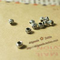 DIY串珠纯银配件-手工银925纯银批发 印尼迷你圆桶小隔珠