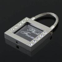 时尚创意礼物 镶钻相框合金钥匙扣 钥匙圈 钥匙链 可放照片