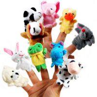 亲子游戏道具 教学道具 双层动物手指玩偶 动物指偶10款 安抚玩具