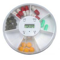 多功能7格电子闹钟药盒 定时提醒吃药 五组闹铃药盒 老人药盒